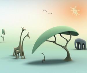 animals, elephant, and fantasy image