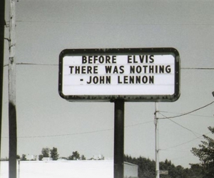 elvis, john lennon, and quote image