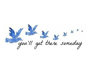 quote, bird, and someday image