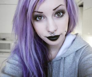 alternative, black lips, and Piercings image