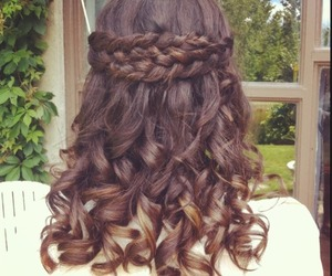 hairstyle, braid, and Prom image