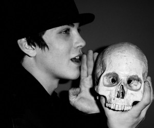 logan lerman, boy, and skull image