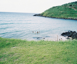 nature, green, and ocean image