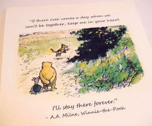quote, winnie the pooh, and forever image