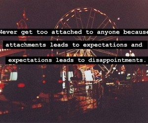 expectations, disappointment, and text image