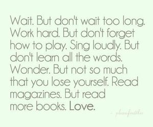 love, quote, and wait image