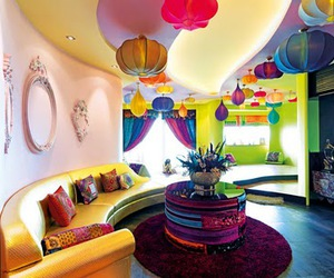 colorful, room, and design image