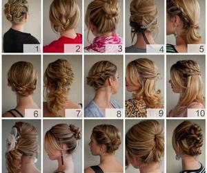 blond, braid, and haircut image