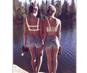 girl, summer, and bff image