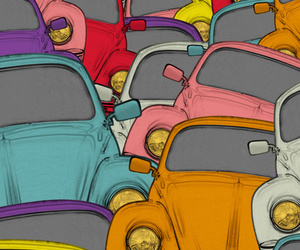 car, colors, and background image
