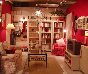 room, book, and pink image