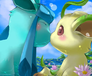 pokemon, kiss, and glaceon image