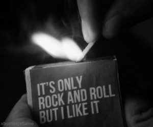 rock and roll, fire, and rock image