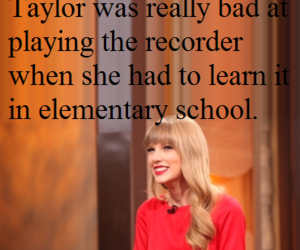 recorder, Taylor Swift, and swift fact image