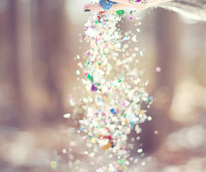 glitter, hands, and sparkles image
