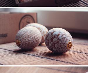 art, decorating, and easter eggs image