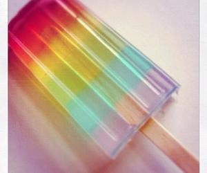 ice cream and rainbow image