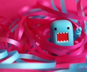 domo, cute, and pink image