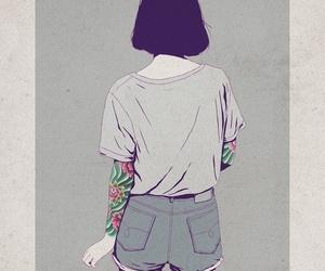 girl, tattoo, and art image