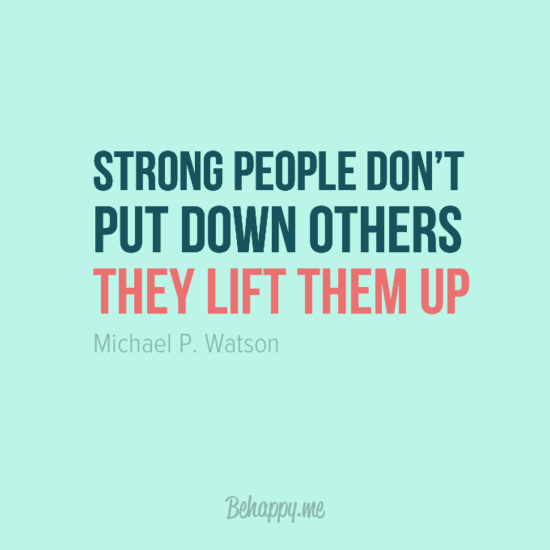 In Your Face Poster Strong People Dont Put Down Others By Michael