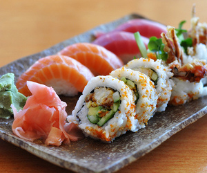 asia, food, and sushi image