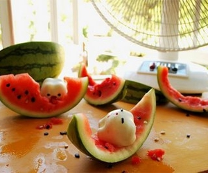milk toof, watermelon, and cute image