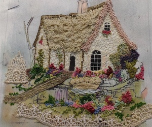 embroidery and house image