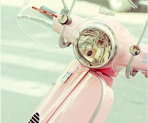 pink, Vespa, and vintage image