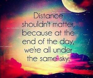 distance, quote, and sky image