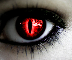 eye, eyes, and red image