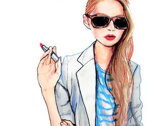 art, drawing, and fashion image