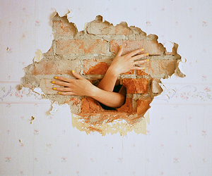wall, hands, and photography image