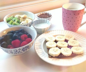 banana, blueberries, and blueberry image