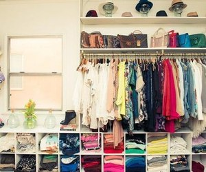 closet, clothes, and colors image
