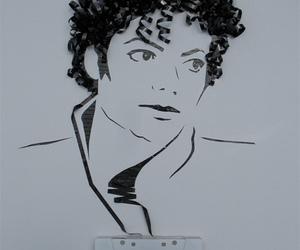 michael jackson, tape, and art image