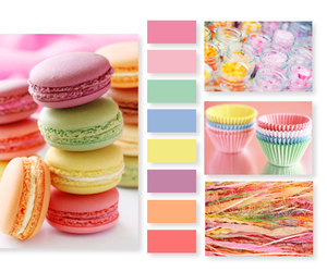colors, macarons, and gourmandise image