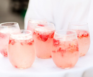drink, strawberry, and pink image