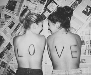 love, friends, and black and white image