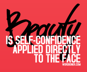 beauty, quote, and confidence image
