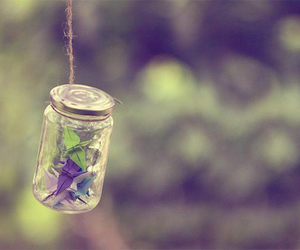 bottle, jar, and origami image