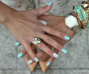blue, fashion, and bracelets image