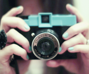 camera, nails, and blue image