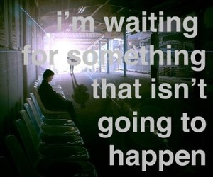 waiting, text, and quote image