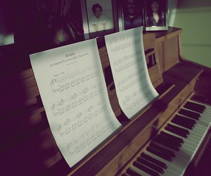 amelie, happy, and sheet music image