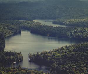 vintage, lake, and nature image