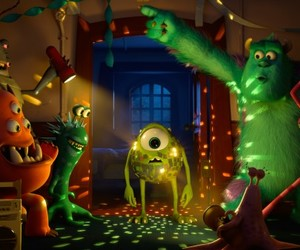 monster, party, and disney image