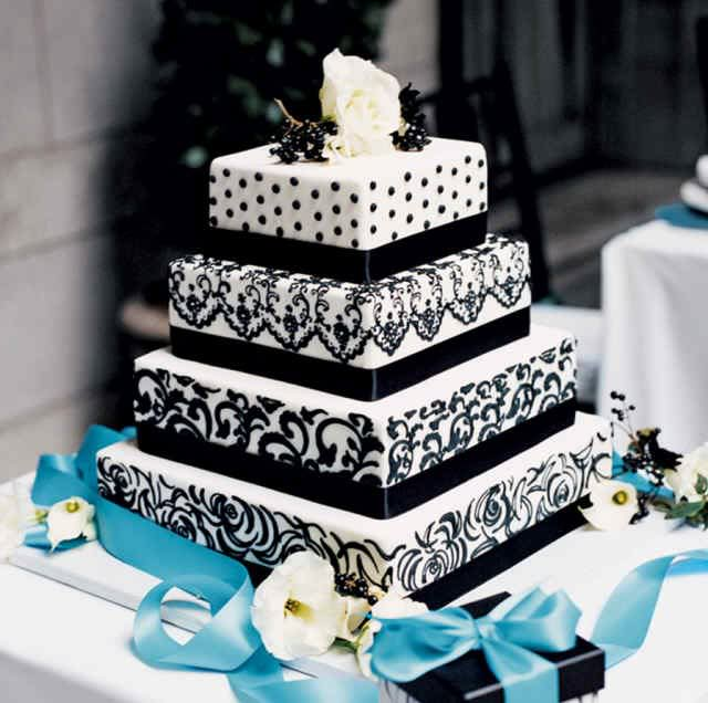 Beautiful Wedding Cakes Blue And White Google Search