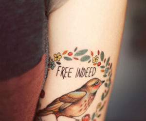 tattoo, bird, and free image