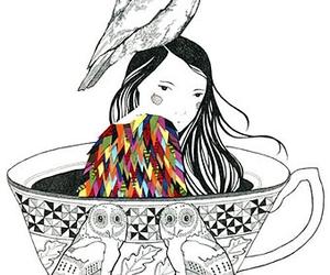 owl, art, and illustration image