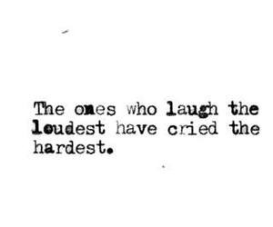 cry, laugh, and quote image